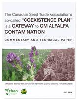 Le plan de coexistence de l'Association canadienne du commerce des semences ouvre la voie à la contamination par la luzerne GM